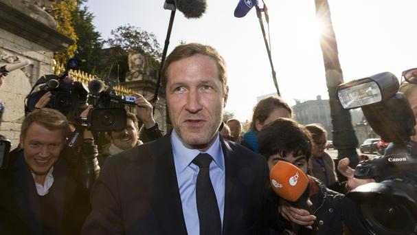 Minister-President of Wallonia, Paul Magnette, speaks with the media (AP)