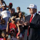 Republican presidential candidate Donald Trump at a campaign rally in Naples, Florida (AP)
