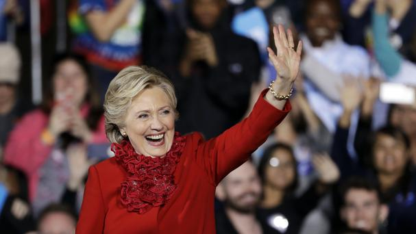 Mrs Clinton is targeting crucial swing states such as Florida (AP)