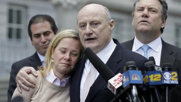Bridget Anne Kelly with her lawyer Michael Critchley after she was found guilty on all counts (AP)