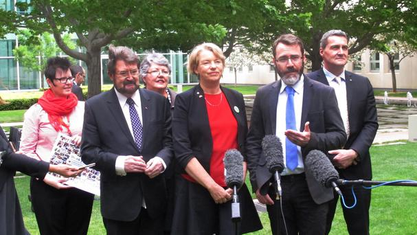 Gay rights advocates welcomed Australia's Senate voting down a government plan to hold a nonbinding public vote on recognising gay marriage (AP)