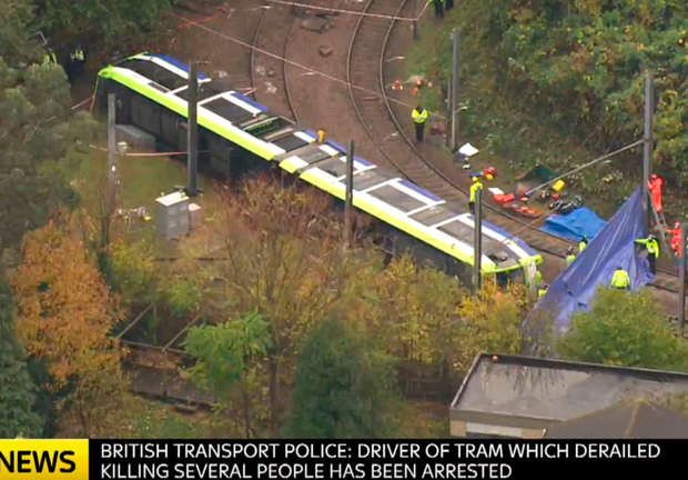 A Sky News video grab of the scene