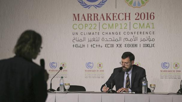 State Department special envoy for climate change, Jonathan Pershing, at the COP22 conference in Morocco (AP)