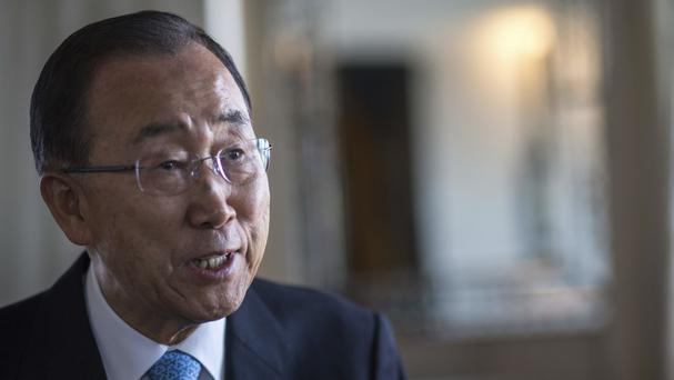 Ban Ki-moon also said that government restrictions on the peacekeepers' movements have led to mission paralysis (AP)
