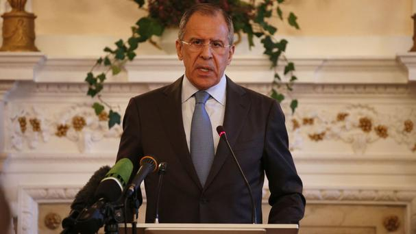 Sergey Lavrov said Russian and Syrian air forces are only working together to prevent Islamic State fighters who are fleeing the Iraqi city of Mosul from crossing into Syria