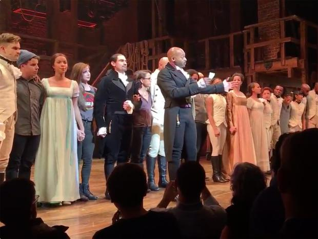 THE MESSAGE: Brandon Victor Dixon and the cast of 'Hamilton' address US VP-elect Mike Pence from the stage on Friday