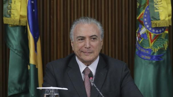 Michel Temer took power in May after Dilma Rousseff was removed from office (AP)
