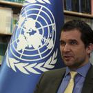 UN officials Nils Melzer speaks in Ankara, Turkey (AP)
