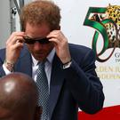 Prince Harry arrives in Guyana