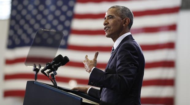 President Barack Obama speaks at MacDill Air Force Base in Tampa, Florida (AP)