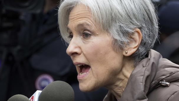 Jill Stein speaks at a news conference in front of Trump Tower (AP)
