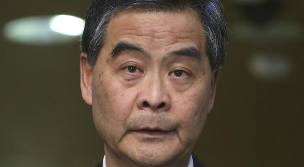 Leung Chun-ying cited unspecified family reasons for his decision (AP)