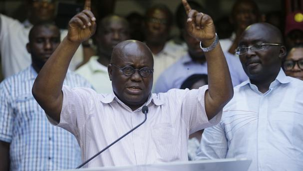 Nana Akufo-Addo has won Ghana's presidential election (AP)