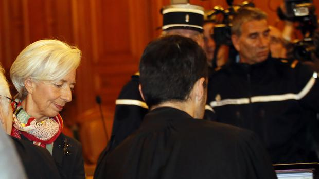 International Monetary Fund chief Christine Lagarde arrives at a the Paris courtroom (AP)