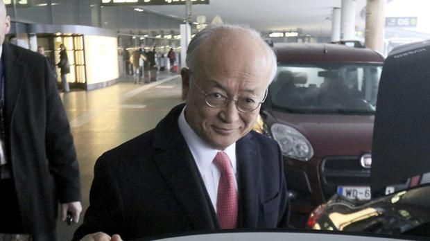 Director general of the International Atomic Energy Agency, Yukiya Amano, was visiting Iran for the second time since a landmark nuclear agreement with world powers went into effect at the start of this year (AP)