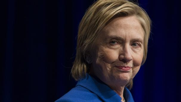 Mrs Clinton was beaten in the November poll by Donald Trump (AP)