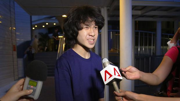 Amos Yee pictured in May 2015 to reporters after being released on bail in Singapore. (AP/Wong Maye-E)
