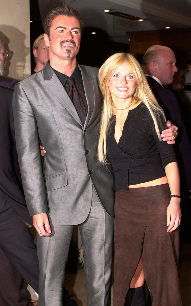 George Michael and friend Geri Halliwell together in 2000. Photo: PA