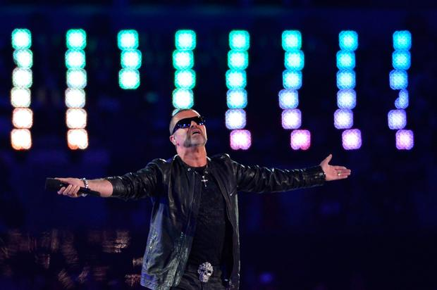 George Michael performs at the closing ceremony of the London 2012 Olympics Picture: Getty