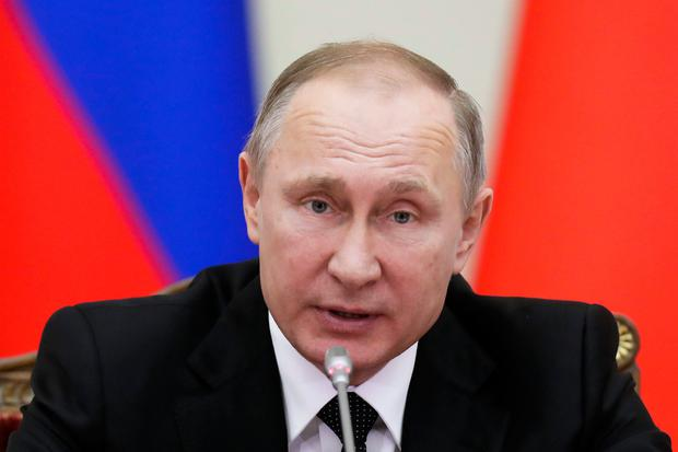 Vladimir Putin announced the ceasefire in Moscow