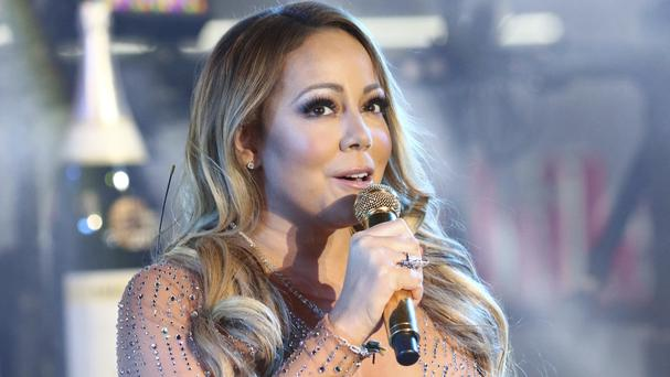 Mariah Carey appeared to have technical problems during her New Year's Eve celebration in Times Square (Invision/AP)