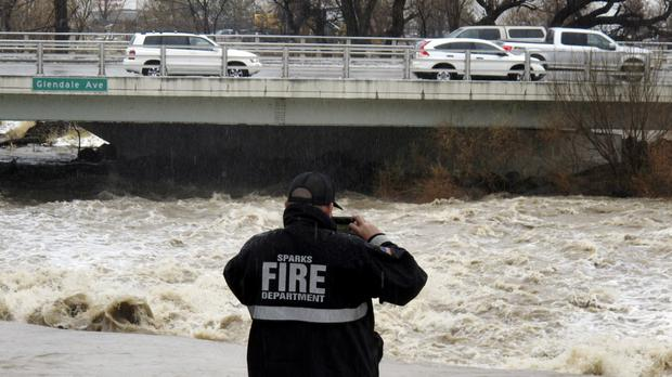Hundreds flee floods and mudslides as storm sweeps California and