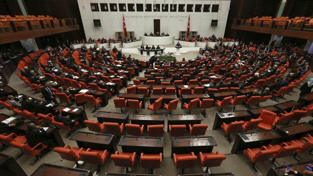 Turkey's parliament debates proposed amendments to the country's constitution (Burhan Ozbilici/AP)