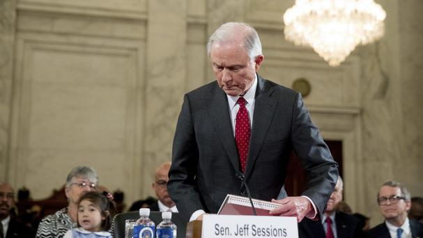 Attorney General-designate Sen Jeff Sessions takes his seat before the Senate Judiciary Committee. (AP/Andrew Harnik)