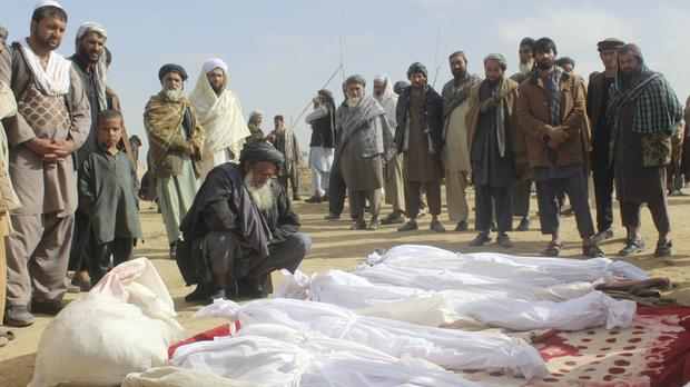 The probe followed claims that civilian deaths resulted from air strikes called in to support Afghan and US troops under fire in Kunduz (AP)