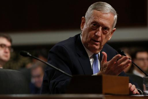 Retired US Marine Corps General James Mattis testifies before a Senate Armed Services Committee hearing on his nomination to serve as defense secretary in Washington. Photo: Reuters