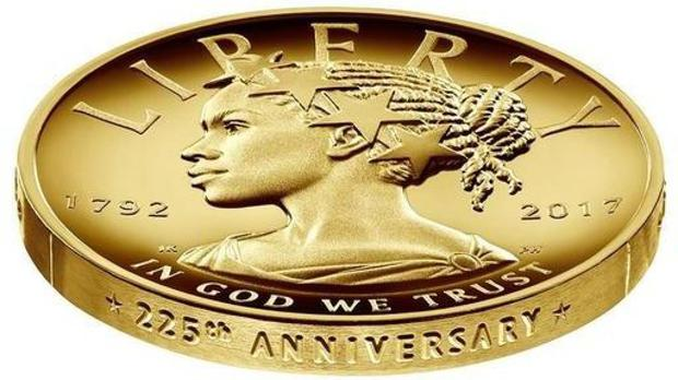 The design for the 2017 American Liberty 225th Anniversary Gold Coin (US Mint via AP)