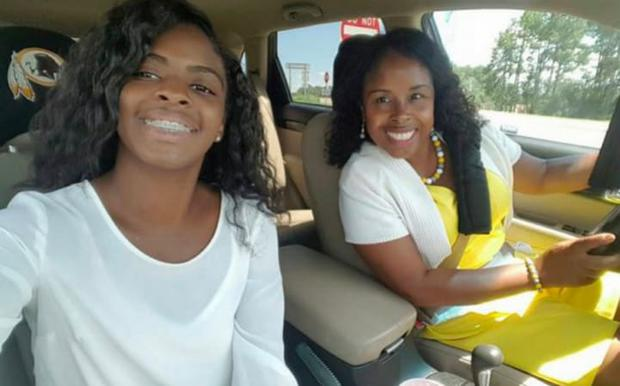 Kamiyah Mobley, now 18, was found living in South Carolina on Friday living under the name Alexis Manigo. Pictured with Gloria Williams who has been arrested for kidnapping Credit: Facebook