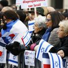 Pro-Israel demonstrators in Paris. (AP/Francois Mori)
