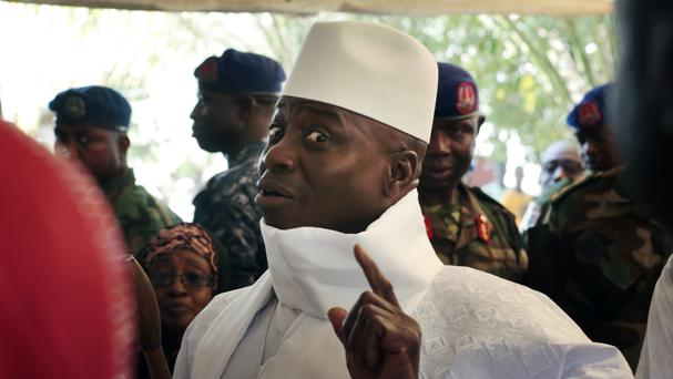 Yahya Jammeh has filed a supreme court injunction to stop his president-elect successor taking over (AP)
