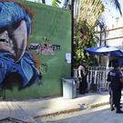 Police at the entrance to the Blue Parrot nightclub in Playa del Carmen, Mexico (AP)