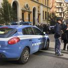 Police stand by an evacuated school after three earthquakes hit central Italy in the space of an hour (AP/Paolo Santalucia)