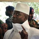 Gambia's Yahya Jammeh when he voted in the election (AP/Jerome Delay)