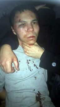 Suspected Istanbul gunman Abdulgadir Masharipov (34) in a photo after his arrest Pictures: Reuters