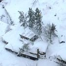 Hotel Rigopiano in Abruzzo after the avalanche (Virgili del Fuoco/Italian Firefighters/AP)