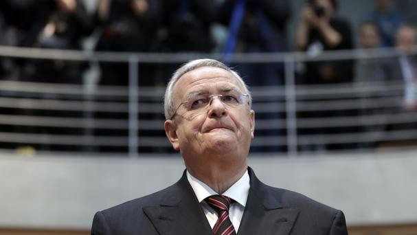 Martin Winterkorn arrives at the German federal parliament in Berlin (AP/Michael Sohn)