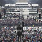 Donald Trump was annoyed by media claims about the size of the National Mall crowds for his inauguration (AP Photo/Patrick Semansky)