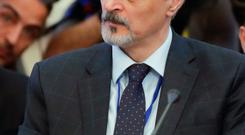 Bashar Jaafari, Syrian Ambassador to the UN, at the talks on peace in Astana. Photo: AP