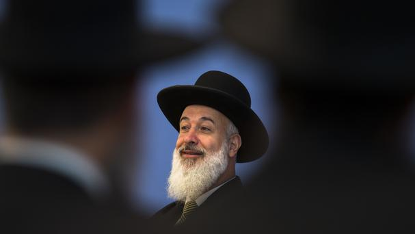 Yona Metzger's lawyer said the former rabbi has 'taken responsibility' for his mistakes (Markus Schreiber/AP)