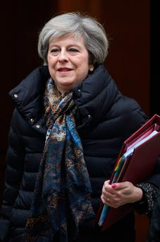 British PM Theresa May. Photo: Getty Images