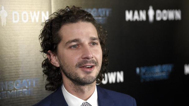 Actor Shia LaBeouf at the Los Angeles premiere of Man Down (Chris Pizzello/Invision/AP, File)