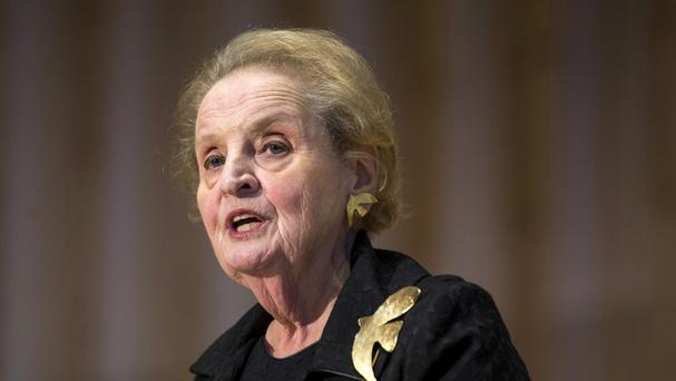 Ms Albright served as secretary of state under former president Bill Clinton (AP)