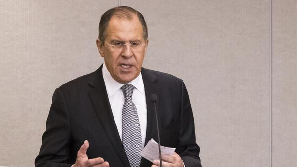 Russian foreign minister Sergey Lavrov has opened the mini-summit on Syria (AP)