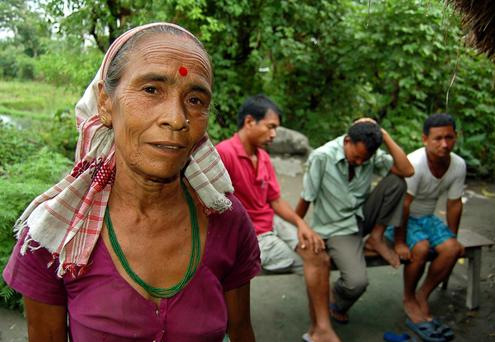 SUPERSTITION: Dimbeswari Bhattarai, a witch doctor, or ojha, in Uttarkuchi village in the state of Assam. Photo: Reuters Agency