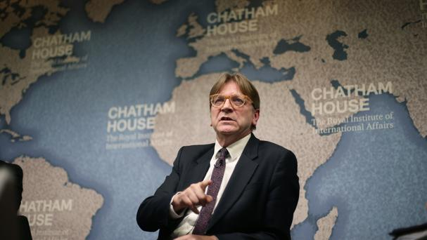 European Parliament Brexit negotiator Guy Verhofstadt said on Monday the EU has 'fewer friends than ever in the United States'
