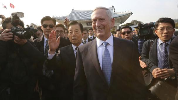Jim Mattis said any attack by North Korea on the United States or its allies would be defeated (AP Photo/Ahn Young-joon)